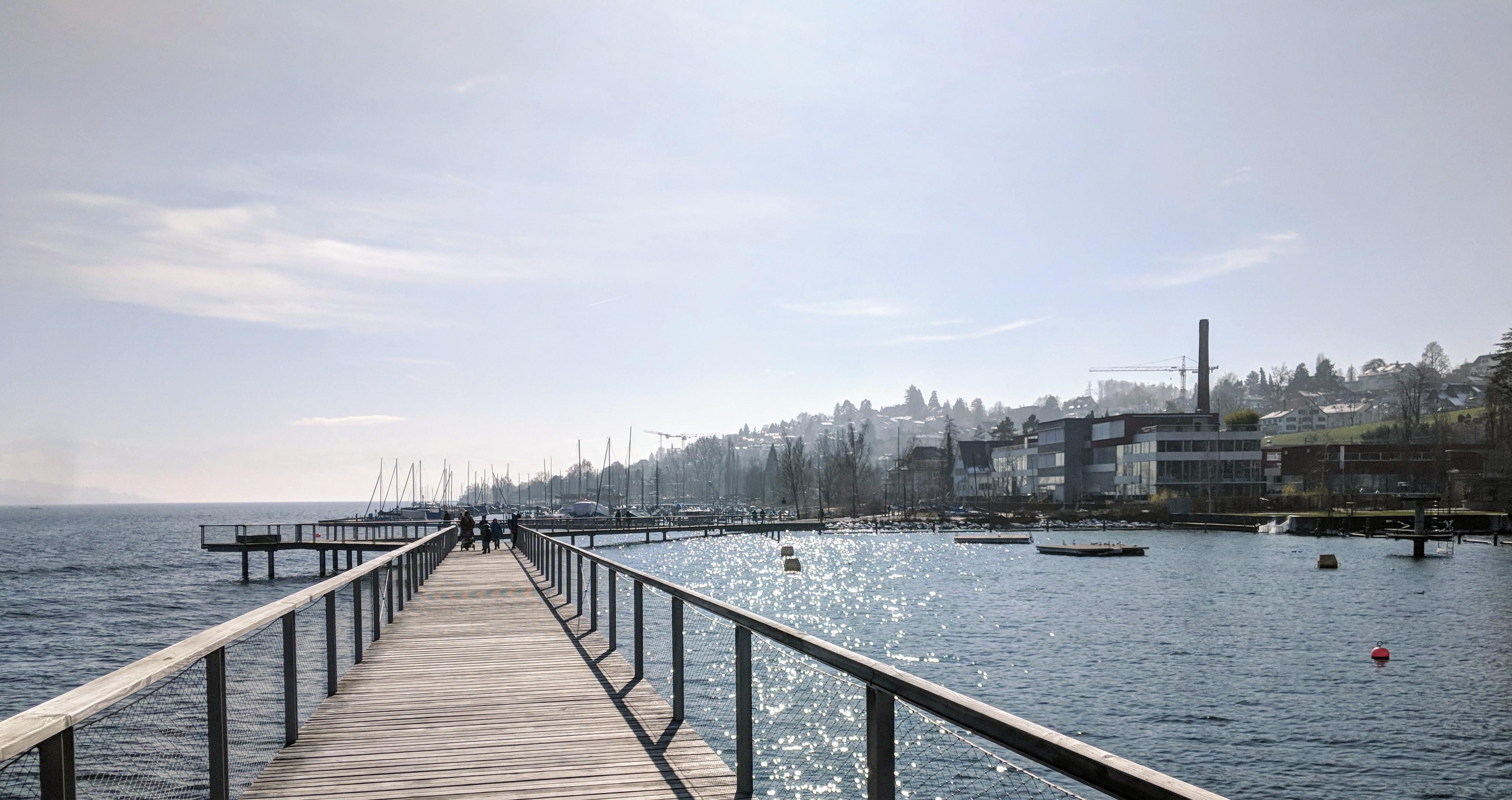 Running route in Zurich - Foot Bridge