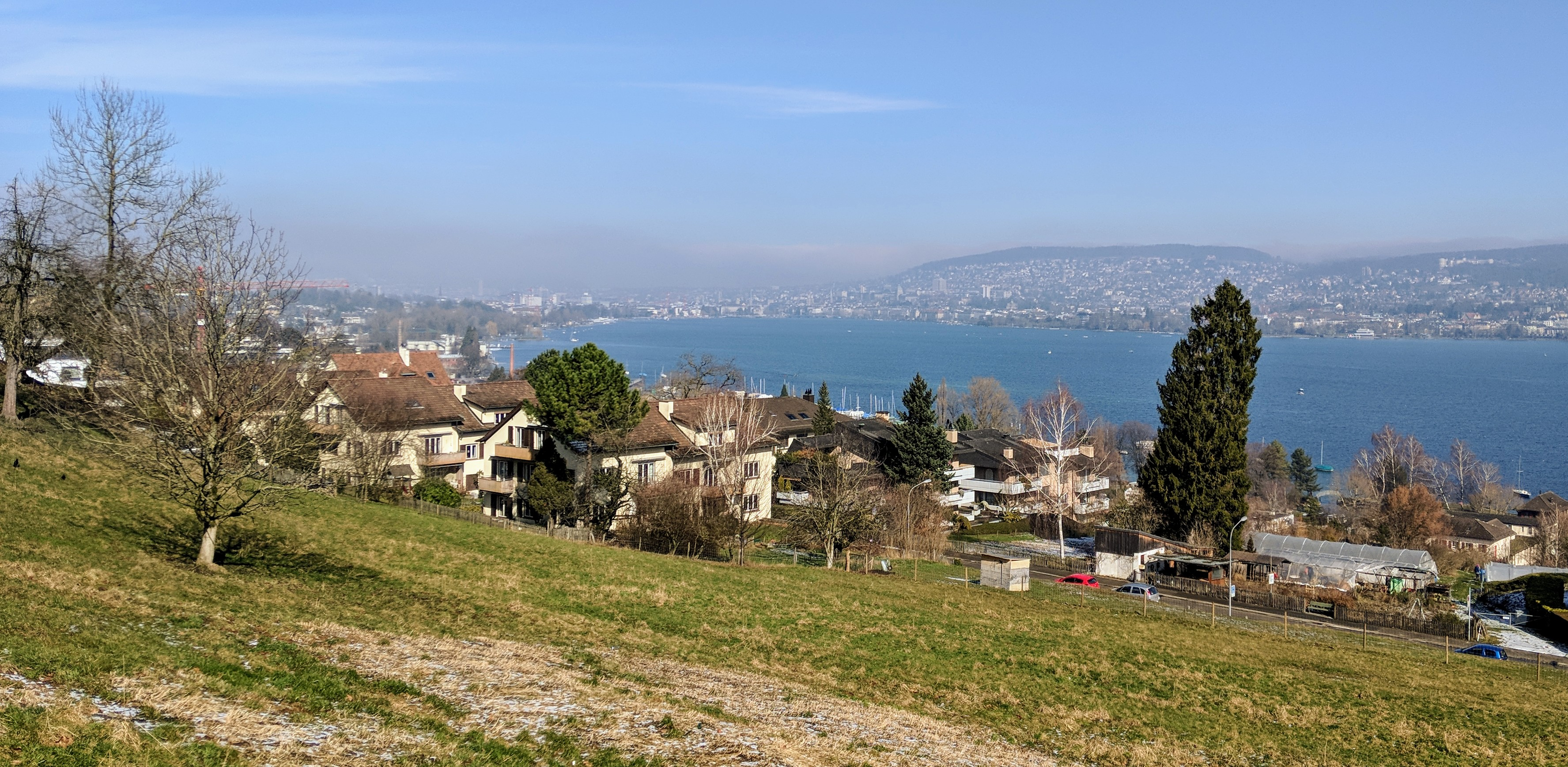 Running route in Zurich - View Lake Zurich