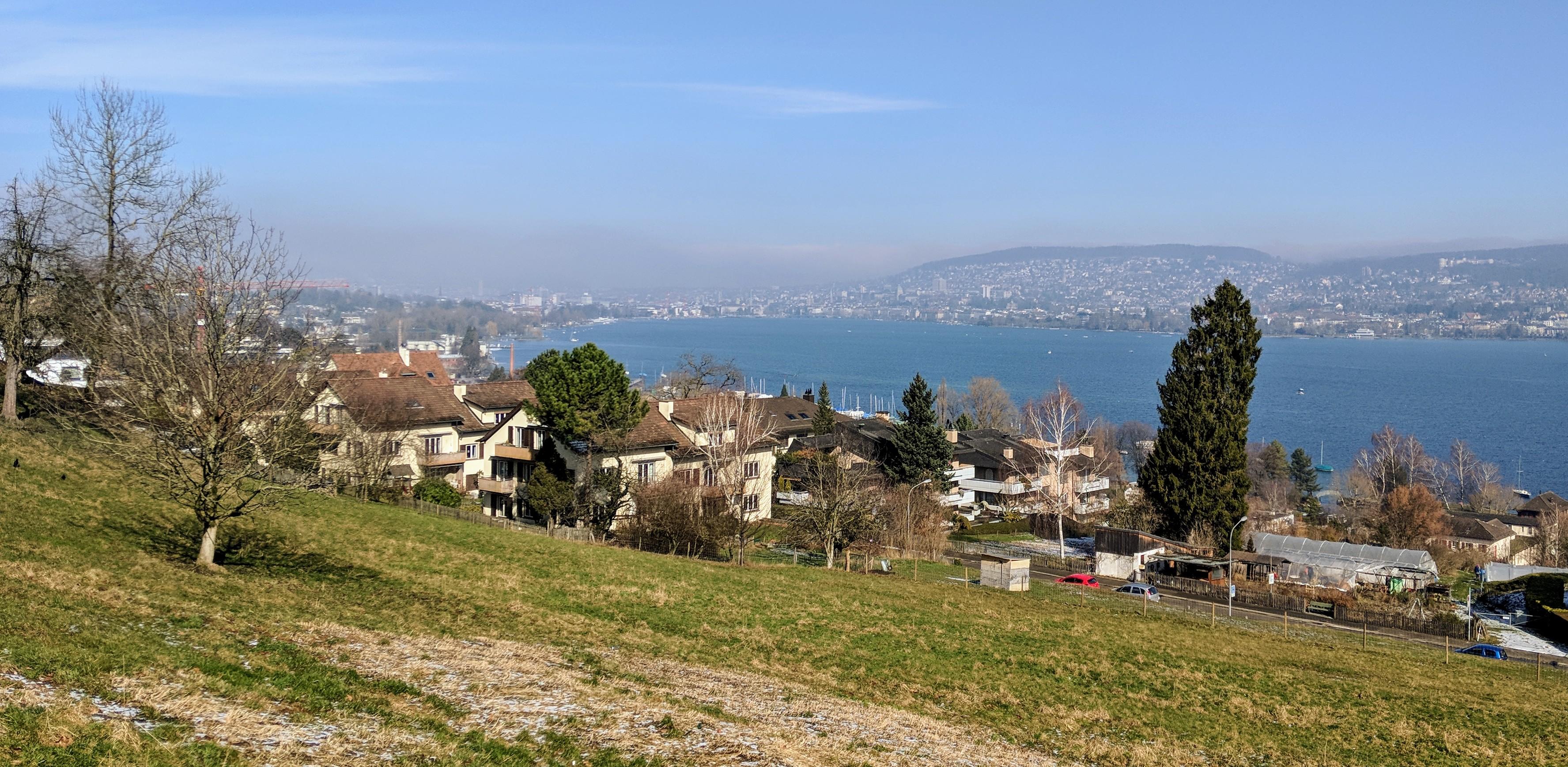 Running route in Zurich - View Lake Zurich