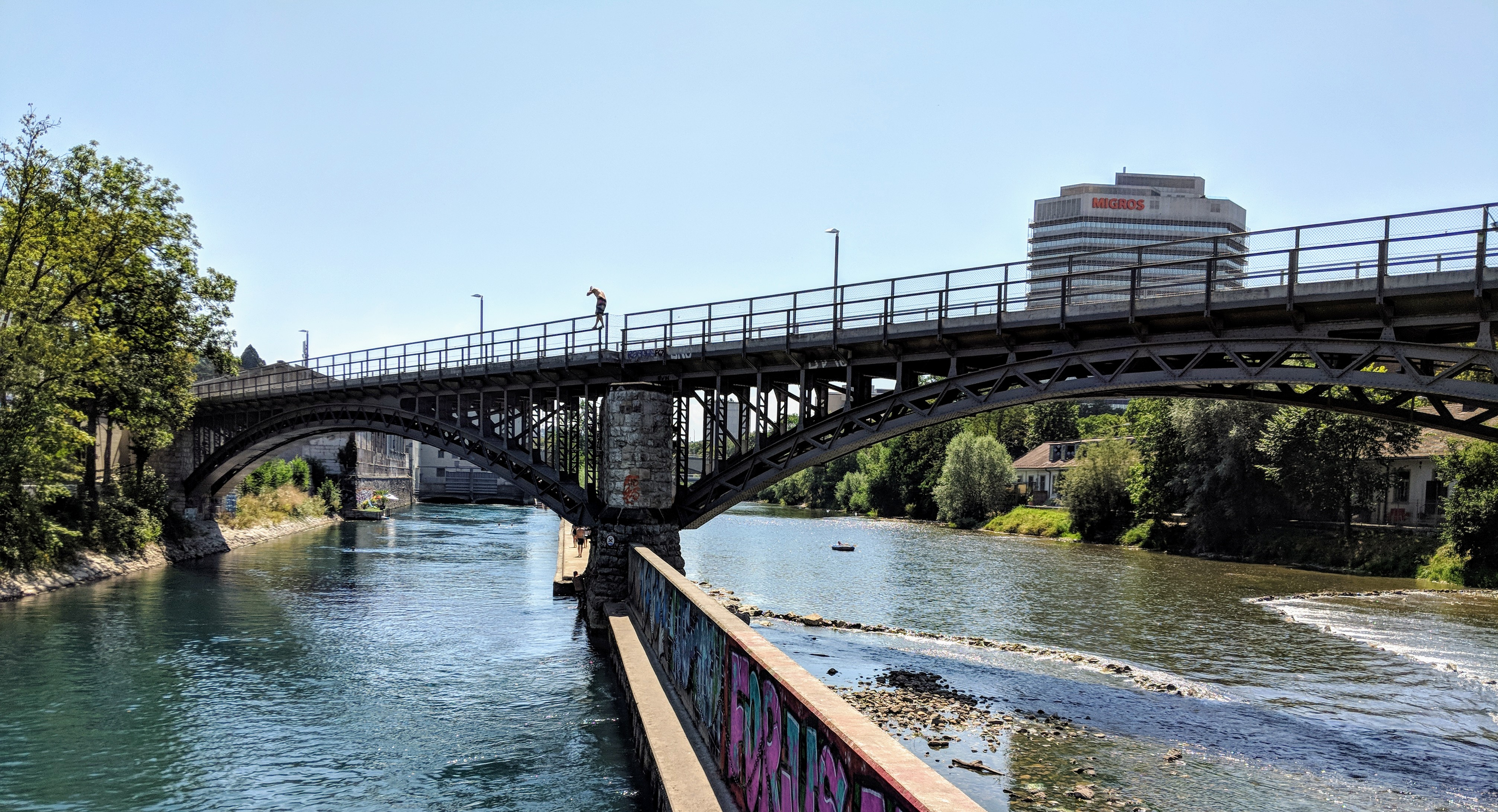Running route in Zurich - Hotel running route - Limmat