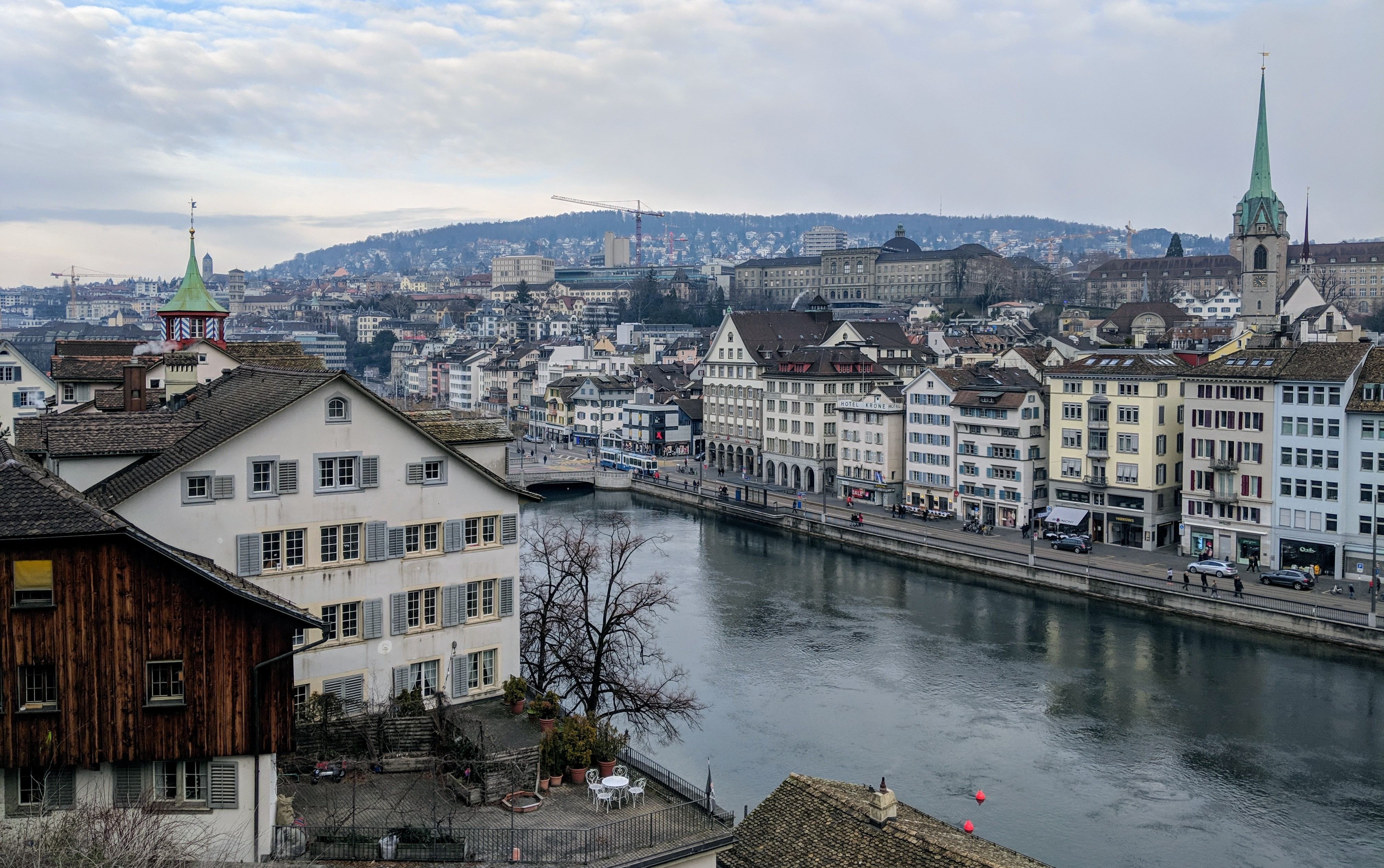Running route in Zurich - Hotel running route - Lindenhof