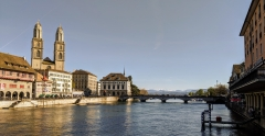 Running route in Zurich - Hotel Alexander running route - Grossmuenster