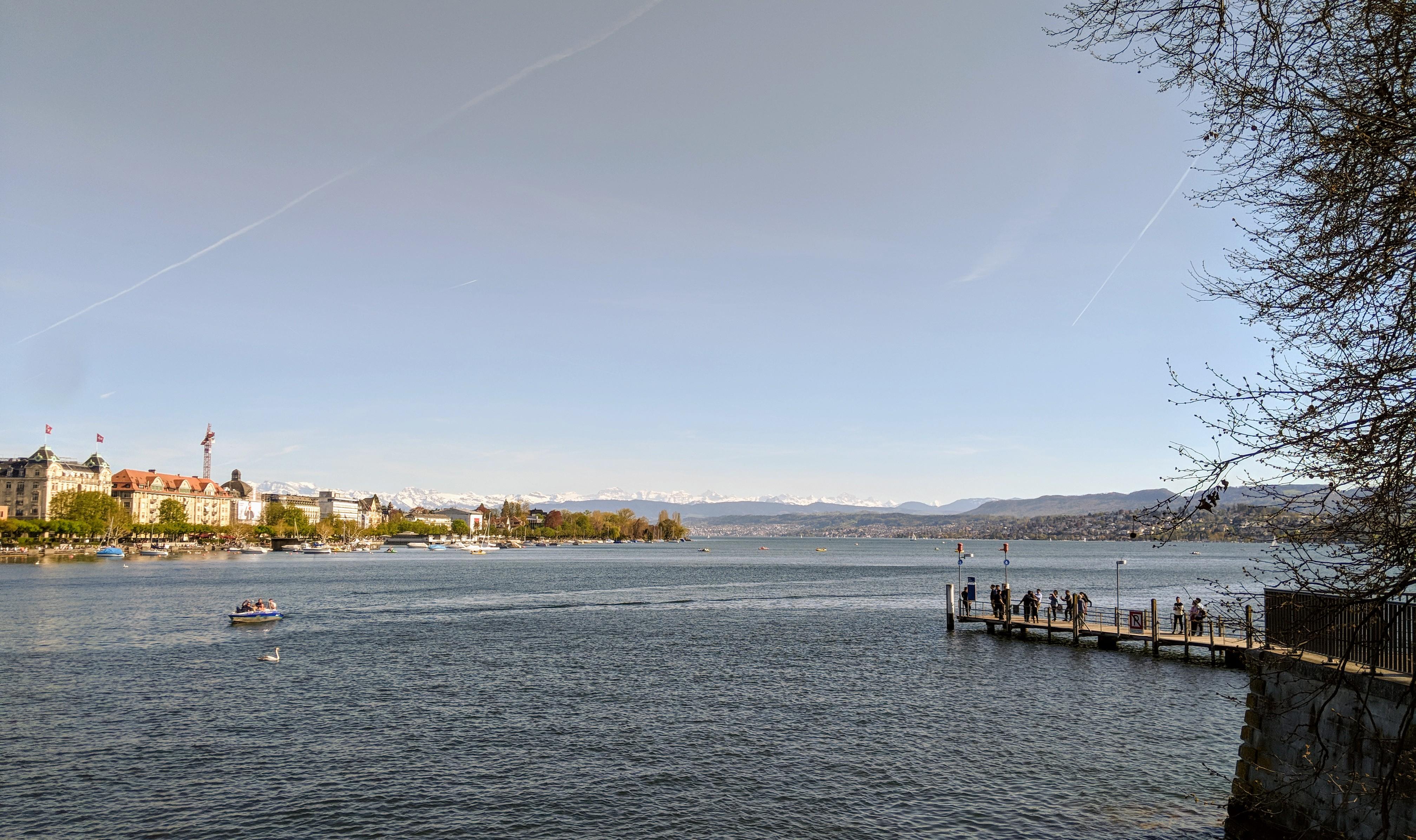 Running route in Zurich - Lake From Buerkliplatz