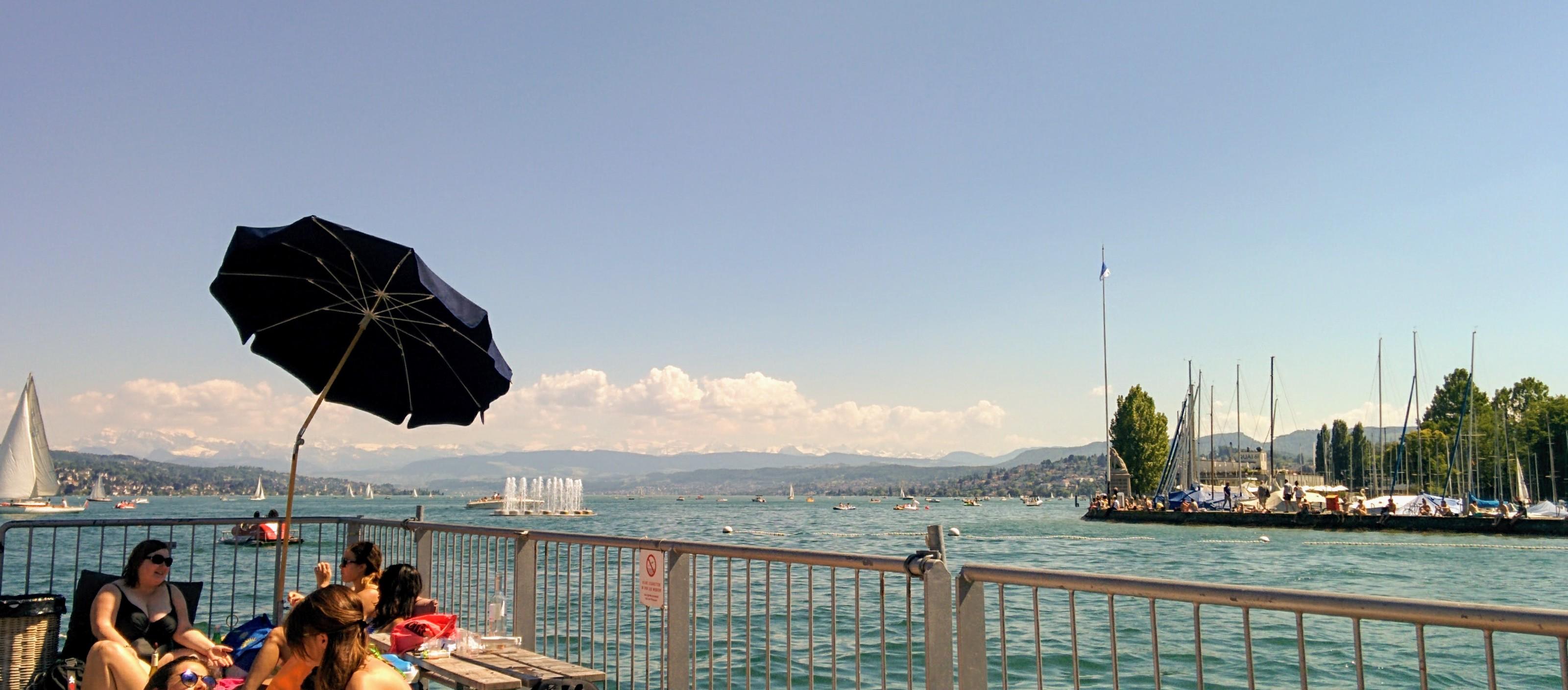 Running route in Zurich - Seebad Enge