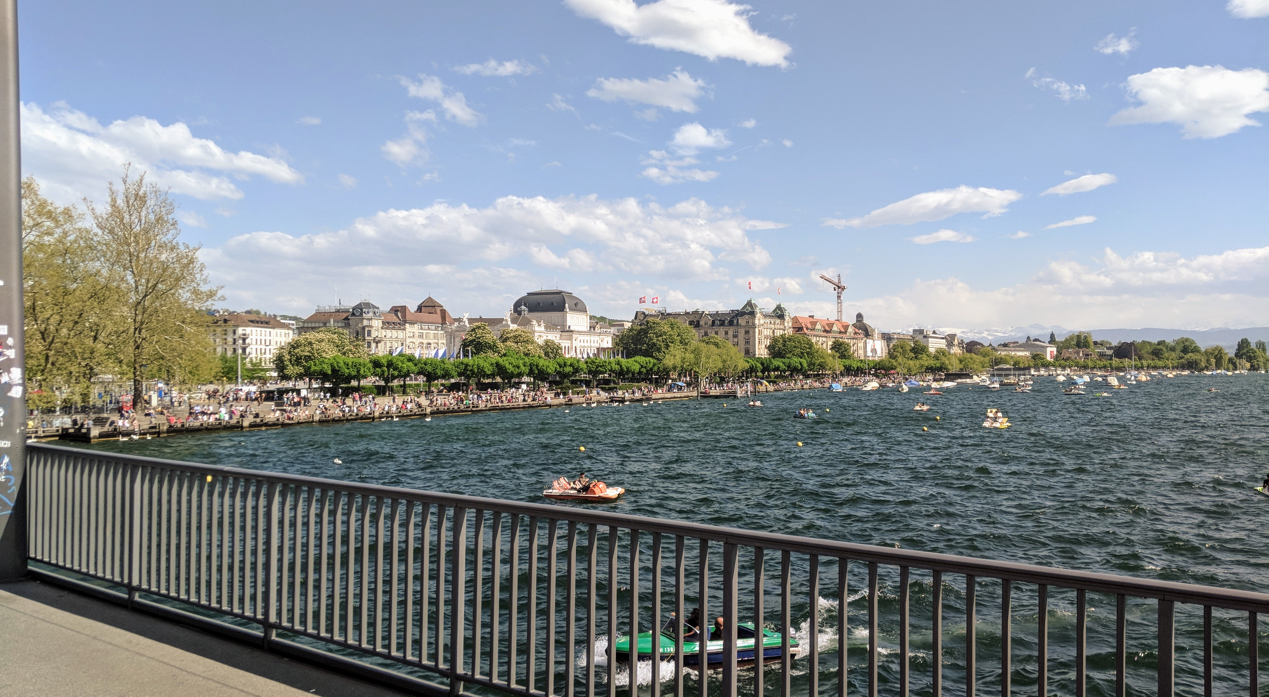 Running route in Zurich - View To OperaHouse