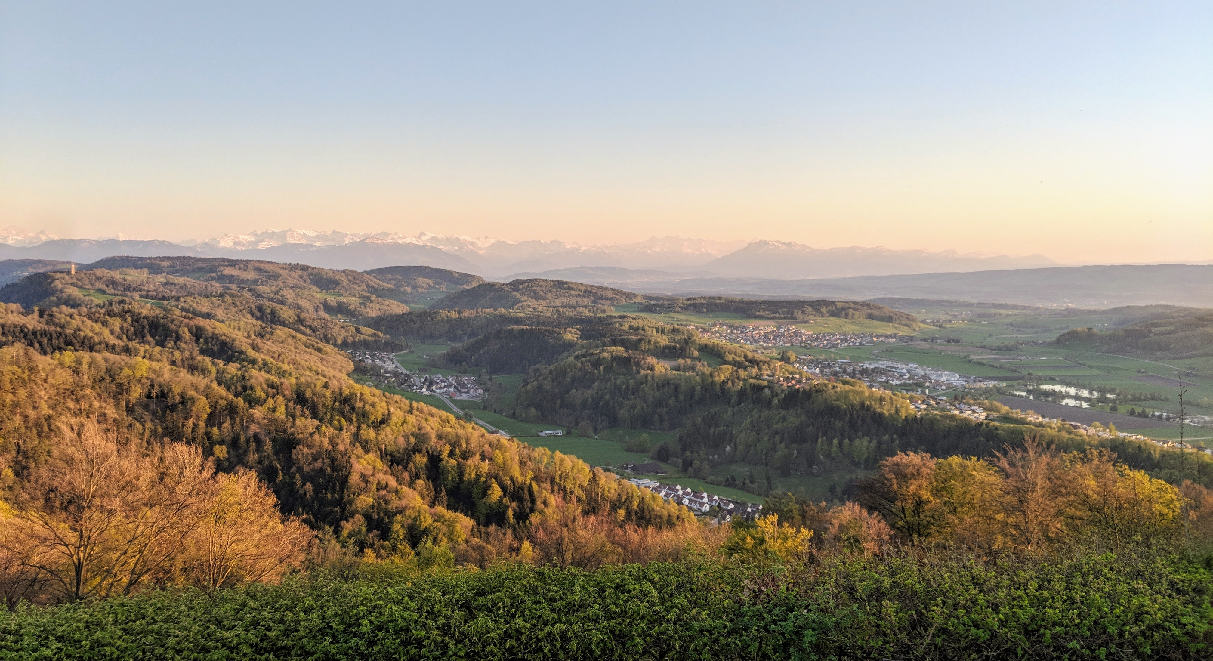 Running route in Zurich - View From Uetliberg