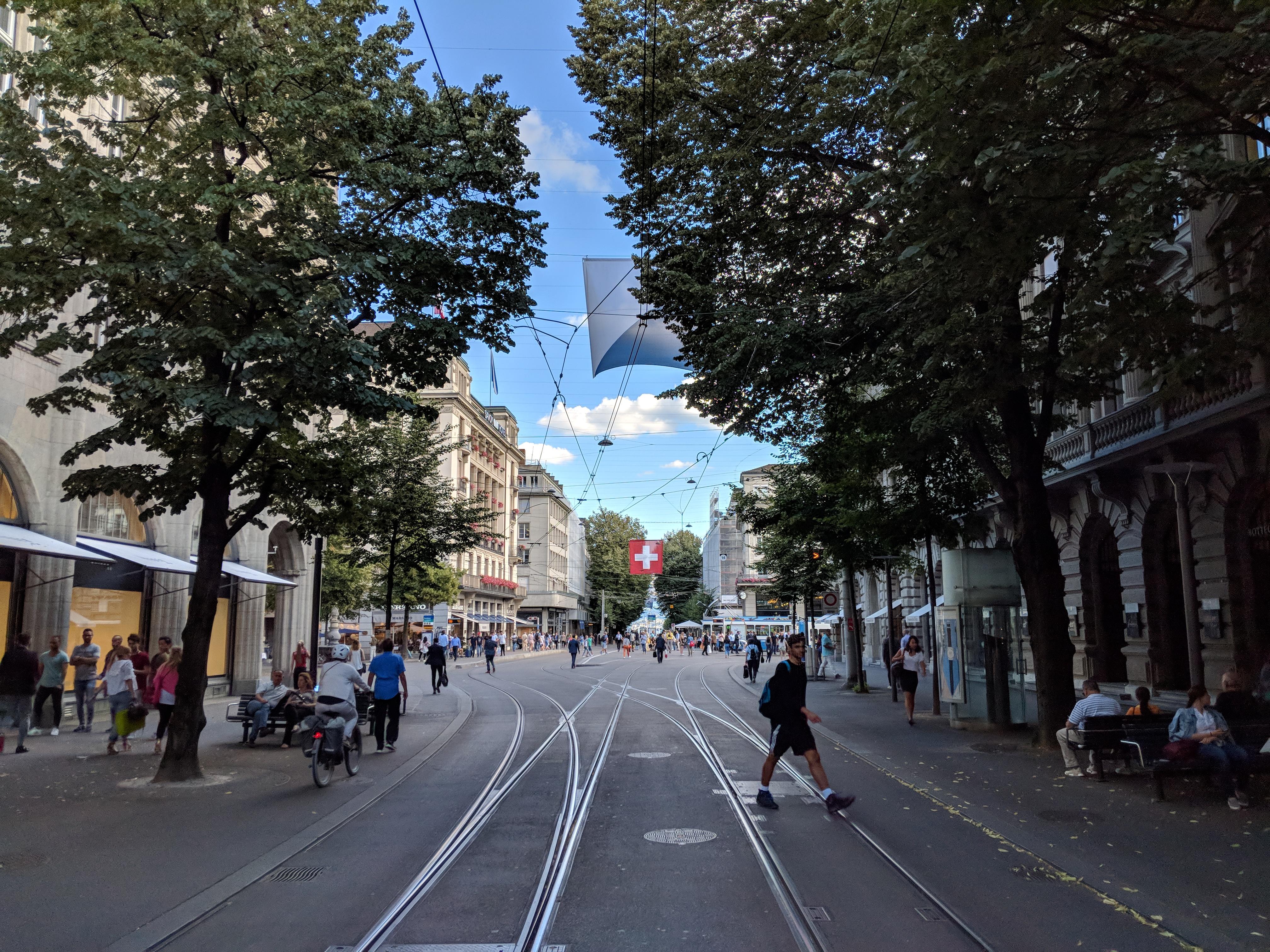 Running route in Zurich - Bahnhofstrasse