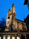 Running route in Zurich - Grossmuenster At Night